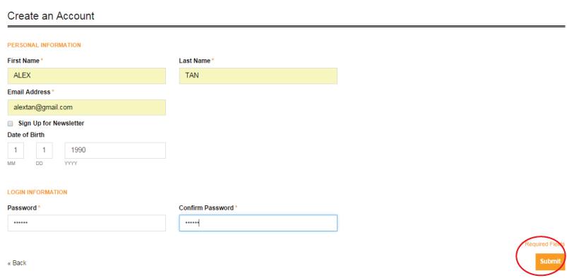 Register as member step 3
