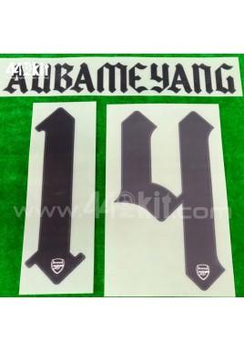 Official AUBAMEYANG #14 Arsenal FC Away CUP 2020-21 PRINT