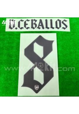 Official D.CEBALLOS #8 Arsenal FC Away CUP 2020-21 PRINT