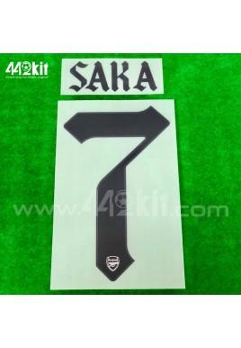 Official SAKA #7 Arsenal FC Away CUP 2020-21 PRINT