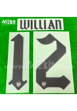 Official WILLIAN #12 Arsenal FC Away CUP 2020-21 PRINT