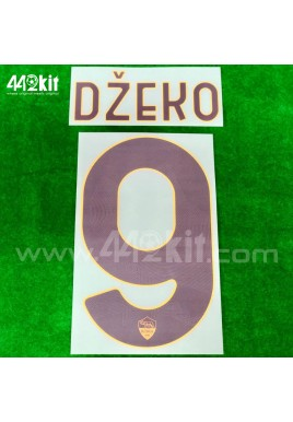 Official DZEKO #9 AS ROMA Away 2020-21 PRINT