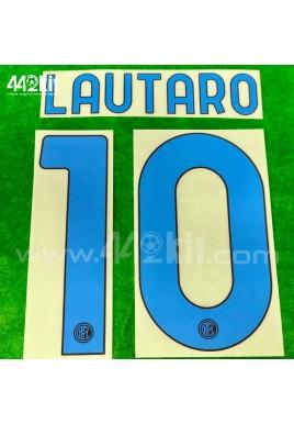 Official LAUTARO #10 Inter Milan Away 2020-21 PRINT
