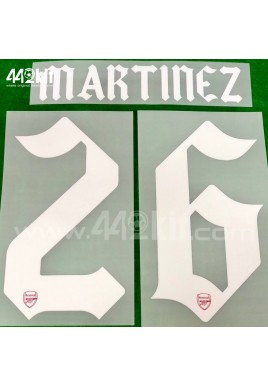 Official MARTINEZ #26 Arsenal FC Home CUP 2020-21 PRINT