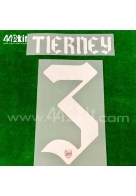 Official TIERNEY #3 Arsenal FC Home CUP 2020-21 PRINT