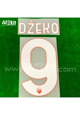 Official DZEKO #9 AS ROMA Home 2020-21 PRINT