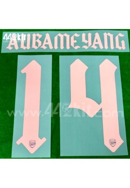 Official AUBAMEYANG #14 Arsenal FC 3rd CUP 2020-21 PRINT
