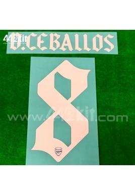 Official D.CEBALLOS #8 Arsenal FC 3rd CUP 2020-21 PRINT