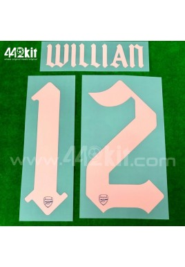 Official WILLIAN #12 Arsenal FC 3rd CUP 2020-21 PRINT