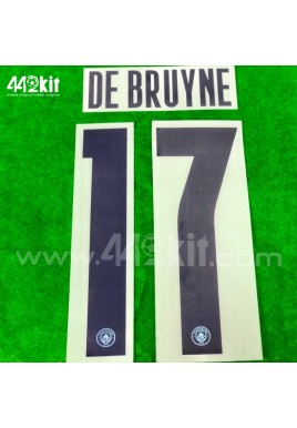 OFFICIAL DE BRUYNE #17 Manchester City FC Home UCL CUP 2020-21 PRINT