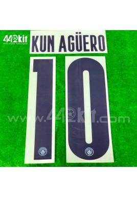 OFFICIAL KUN AGUERO #10 Manchester City FC Home UCL CUP 2020-21 PRINT