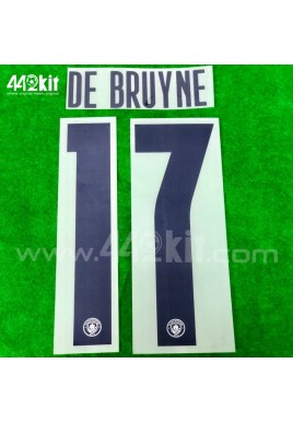 OFFICIAL DE BRUYNE #17 Manchester City FC 3rd UCL CUP 2020-21 PRINT