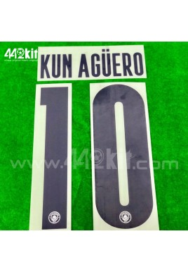 OFFICIAL KUN AGUERO #10 Manchester City FC 3rd UCL CUP 2020-21 PRINT