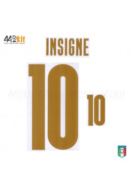 Official INSIGNE #10 Italy FIGC 3rd RENAISSANCE 2019-20 PRINT