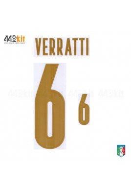 Official VERRATTI #6 Italy FIGC 3rd RENAISSANCE 2019-20 PRINT