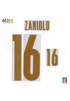 Official ZANIOLO #16 Italy FIGC 3rd RENAISSANCE 2019-20 PRINT