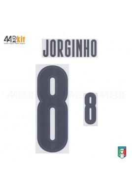Official JORGINHO #8 Italy FIGC AWAY EURO 2020 2020-21 PRINT