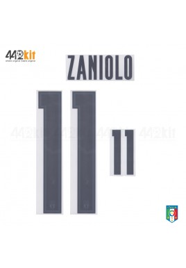 Official ZANIOLO #11 Italy FIGC AWAY EURO 2020 2020-21 PRINT