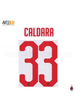 Official CALDARA #33 AC Milan Away 2018-20 Name Number