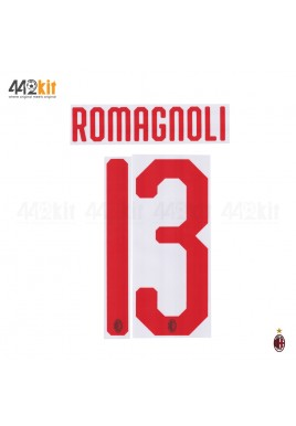 Official ROMAGNOLI #13 AC Milan Away 2018-20 Name Number