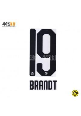 Official BRANDT #19 Borussia Dortmund Home 2019-20 PU PRINT
