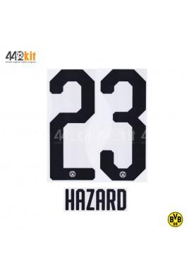 Official HAZARD #23 Borussia Dortmund Home 2019-20 PU PRINT