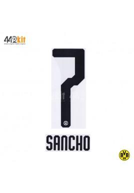 Official SANCHO #7 Borussia Dortmund Home 2019-20 PU PRINT