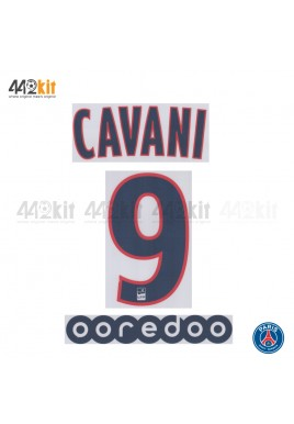 Official CAVANI #9 + OOREDOO PSG 3rd Ligue 1 2019-20 PRINT