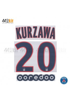 Official KURZAWA #20 + OOREDOO PSG 3rd Ligue 1 2019-20 PRINT