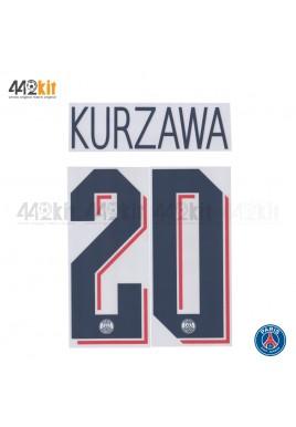 Official KURZAWA #20 PSG 3rd UCL 2019-20 PRINT