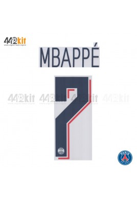 Official MBAPPE #7 PSG 3rd UCL 2019-20 PRINT