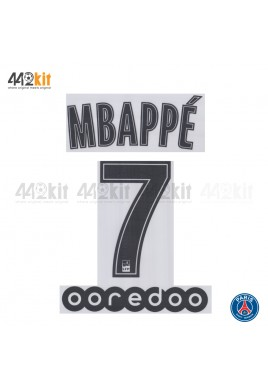 Official MBAPPE #7 + OOREDOO PSG Away Ligue 1 2019-20 PRINT