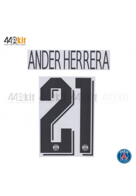 Official ANDER HERRERA #21 PSG Away UCL 2019-20 PRINT