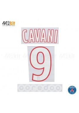 Official CAVANI #9 + OOREDOO PSG Home Ligue 1 2019-20 PRINT