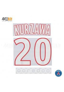 Official KURZAWA #20 + OOREDOO PSG Home Ligue 1 2019-20 PRINT