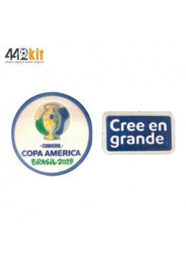 Official PLAYER ISSUE COPA AMERICA 2019 + Cree en Grande Patches