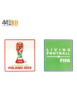 Official FIFA U-20 World Cup POLAND 2019 + LIVING FOOTBALL PLAYER ISSUE Patch