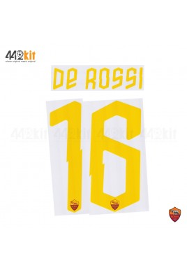 Official DE ROSSI #16 AS ROMA Home 2019-2020 PRINT