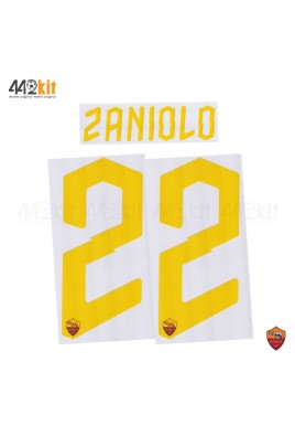 Official ZANIOLO #22 AS ROMA 3rd 2019-2020 PRINT