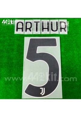 Official ARTHUR #5 Juventus FC Home 2020-21 PRINT