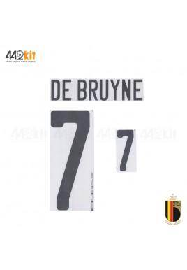 Official DE BRUYNE #7 Belgium RBFA Away EURO 2020 2020-21 PRINT