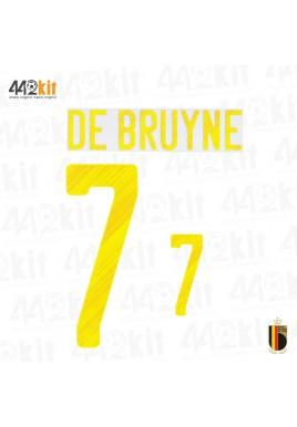 Official DE BRUYNE #7 Belgium RBFA HOME EURO 2020 2020-21 PRINT