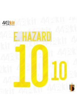 Official E.HAZARD #10 Belgium RBFA HOME EURO 2020 2020-21 PRINT