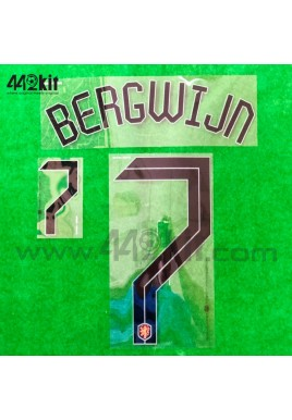 Official BERGWIJN #7 NETHERLANDS KNVB Home 2020-21 PRINT
