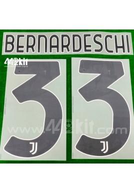 Official BERNARDESCHI #33 Juventus FC Home 2020-21 PRINT