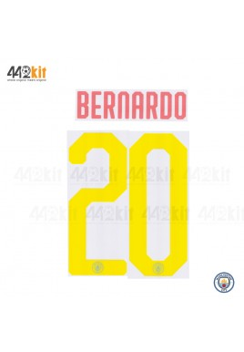 OFFICIAL BERNARDO #20 Manchester City FC Away UCL CUP 2019-20 PRINT