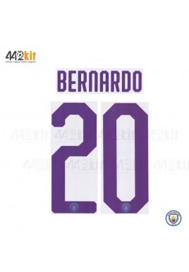 OFFICIAL BERNARDO #20 Manchester City FC HOME UCL CUP 2019-20 PRINT
