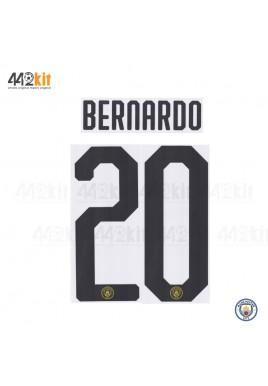 OFFICIAL BERNARDO #20 Manchester City FC 3rd UCL CUP 2019-20 PRINT