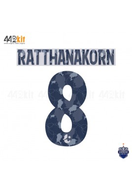 Official PLAYER ISSUE RATTHANAKORN #8 BURIRAM UNITED AWAY 2020 THAI LEAGUE 1 PRINT
