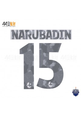 Official PLAYER ISSUE NARUBADIN #15 BURIRAM UNITED 3rd 2020 THAI LEAGUE 1 PRINT
